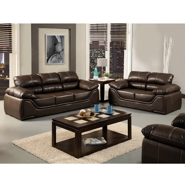 Furniture of America 'Daniel' Espresso 2-piece Sofa Set