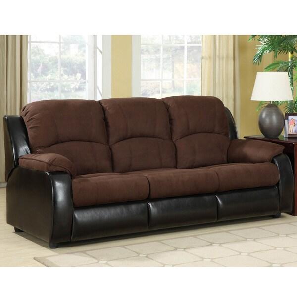 Furniture of America Lawrence Queen-size Microfiber Futon