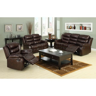 Furniture of America Berkenfield 3-piece Leatherette Sofa Set