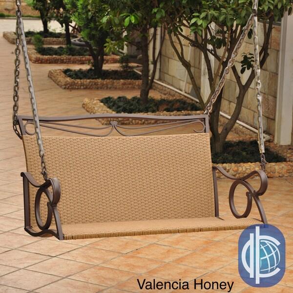 International Caravan International Caravan Lisbon Resin Wicker Hanging Swing