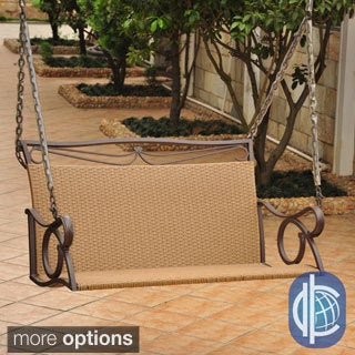 International Caravan Lisbon Resin Wicker Hanging Swing