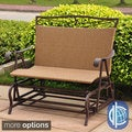 Lisbon Resin Wicker Outdoor Loveseat Glider