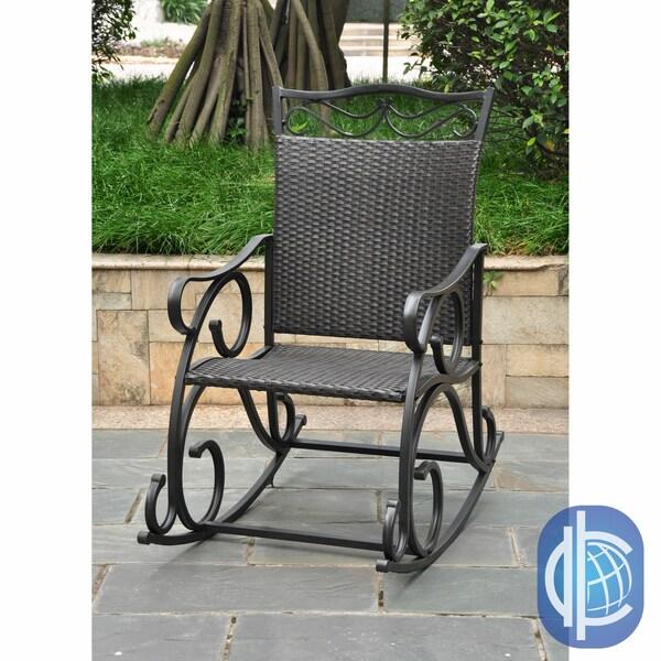 International Caravan International Caravan Lisbon Wicker Rocking Chair