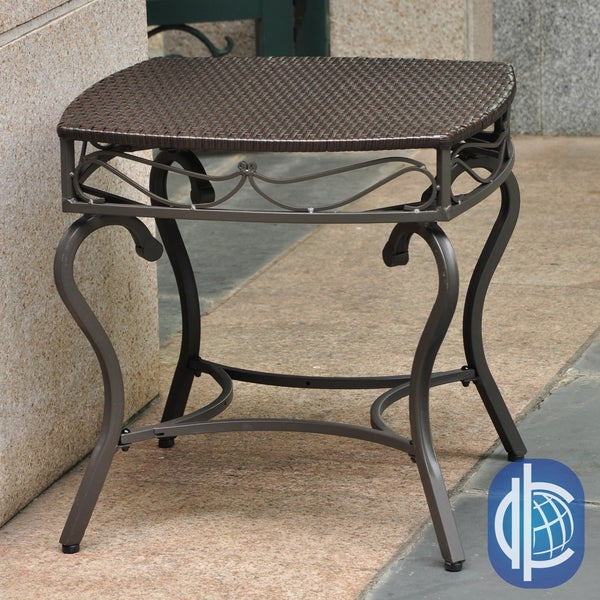 International Caravan International Caravan Lisbon Resin Wicker Outdoor Table