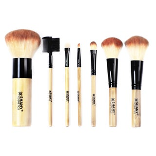 Shany Vegan Bamboo Brush Set with Bamboo Handles