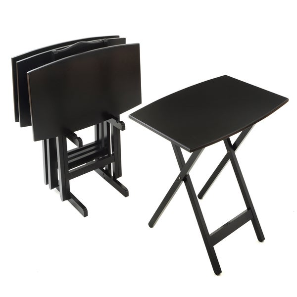 Bianco Collection Furniture Black Tray Table 14790426 Overstock