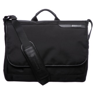 Johnston & Murphy Black Messenger Bag