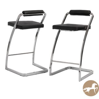 Christopher Knight Home Geneva Modern Black Barstools (Set of 2)