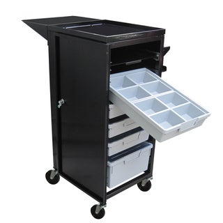 UBS Mobile Stylist Assistant Durable /Beauty Steel Frame Cart with Lockable Doors