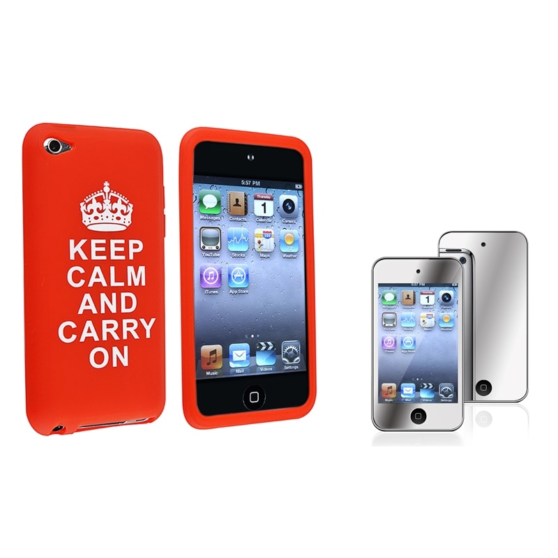 BasAcc Silcione Case/ LCD Protector for Apple iPod Touch Generation 4
