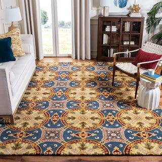 Safavieh Handmade Wyndham Blue New Zealand Wool Rug