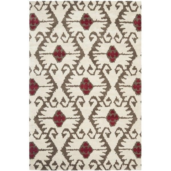 Safavieh Handmade Wyndham Ivory New Zealand Wool Rug