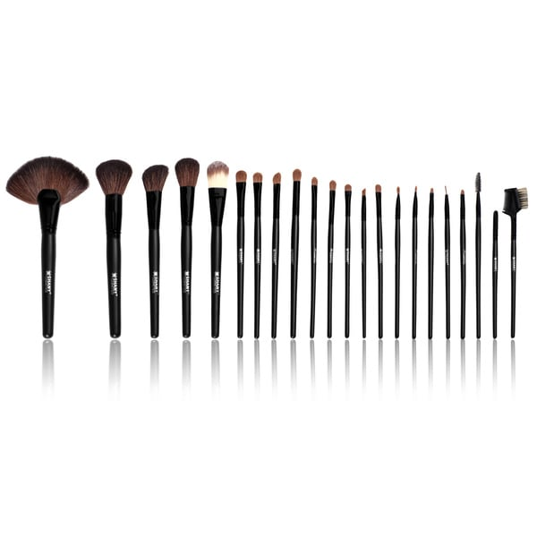 SHANY Pro Brush Set Mix of Natural & Synthetic Bristles with Faux leatherette Pouch - Urban Gal Collection - 22p