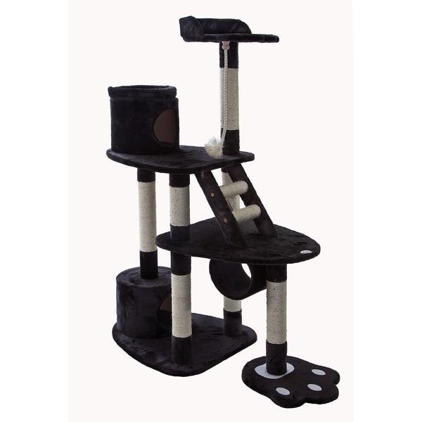 Go Pet Club Dark Grey 59-inch High Cat Tree Furniture