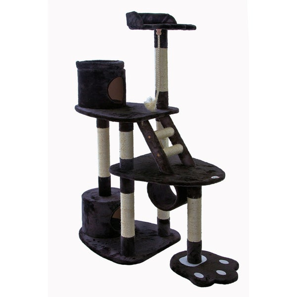 Go Pet Club Dark Grey 59-inch High Cat Tree Furniture