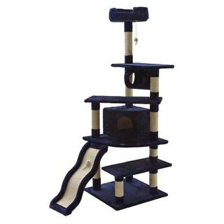 Go Pet Club Blue 70-inch High Cat Tree Furniture