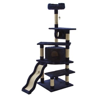Go Pet Club Blue 70-inch High Cat Tree Furniture