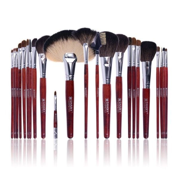 SHANY 22-piece 'NY Collection' Natural Goat and Pony Bristles Pro Brush Set with Cotton Pouch