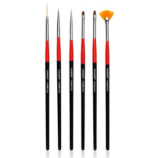 Shany Professional Synthetic Nail Brush 6-piece Set