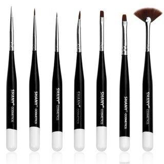 Shany Professional 7-piece Natural Nail Brush Set