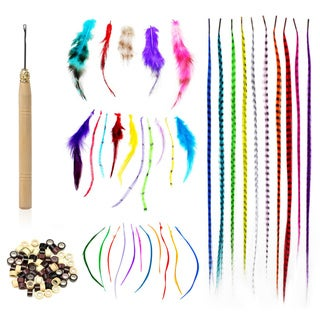 Shany Synthetic Feather Hair Extension Kit (100 pieces)