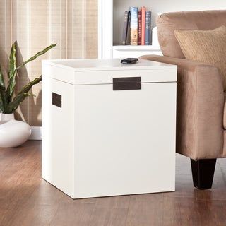 Barclay White Trunk End Table
