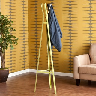 Brayden Green/ Yellow Metal Hall Tree