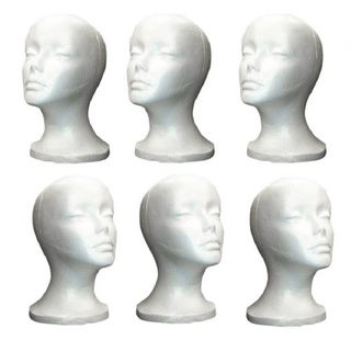 Shany White Styrofoam Model Heads (Pack of 6)
