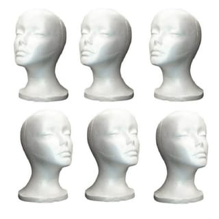 Shany White Styrofoam Model Heads (Pack of 12)