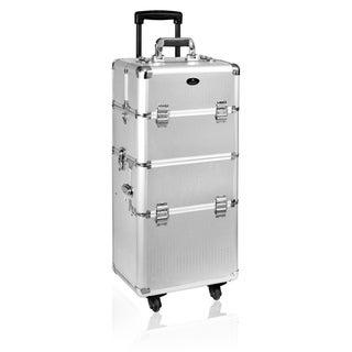 Shany Lightweight Alumunim Silver Dots Makeup Trolley Case