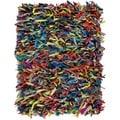 Safavieh Handmade Metro Rainbow Leather Shag Rug