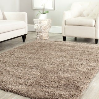 Safavieh Cozy Solid Taupe Shag Rug