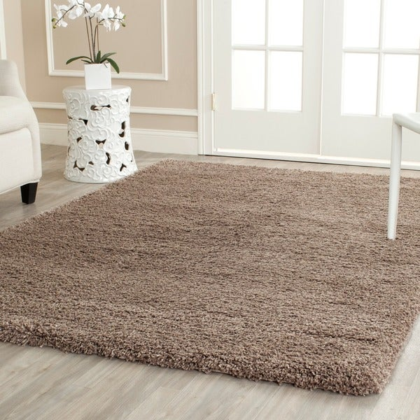 Safavieh California Cozy Solid Taupe Shag Rug