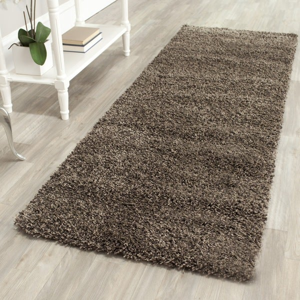 Safavieh California Cozy Solid Mushroom Shag Rug (2'3 x 7')