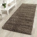 Safavieh Cozy Solid Mushroom Grey Shag Rug