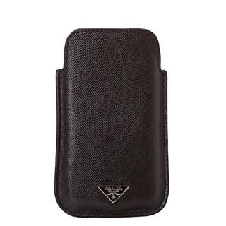 Prada '2ARD62 2AHF F0002' Black Saffiano Leather iPhone Sleeve