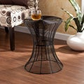 Kayden Indoor/ Outdoor Black Metal Accent Table