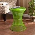 Kayden Indoor/ Outdoor Green Metal Accent Table