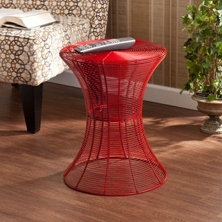 Kayden Indoor/ Outdoor Red Metal Accent Table