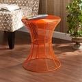 Kayden Indoor/ Outdoor Orange Metal Accent Table
