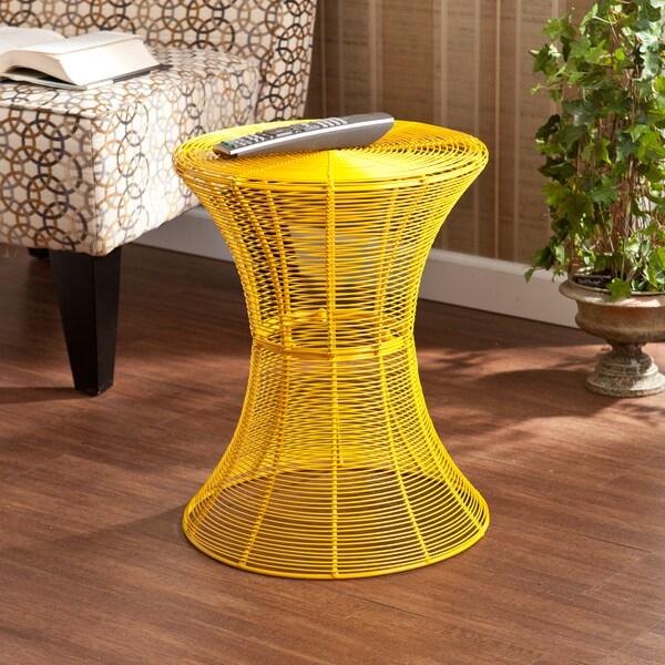 Upton Home Kayden Indoor/ Outdoor Yellow Metal Accent Table
