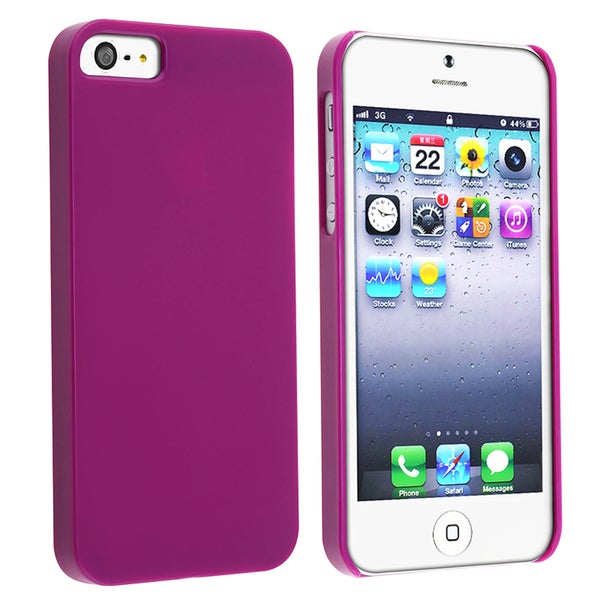 BasAcc Protex Solid Purple Snap-on Case for Apple iPhone 5