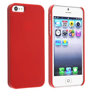 BasAcc Protex Solid Red Snap-on Case for Apple iPhone 5/ 5S