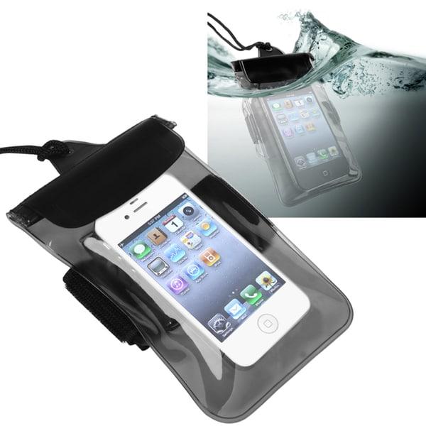 INSTEN Clear Black Waterproof Bag for Apple iPhone 5