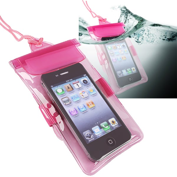 INSTEN Hot Pink Universal with Armband Waterproof Bag for Apple iPhone 5
