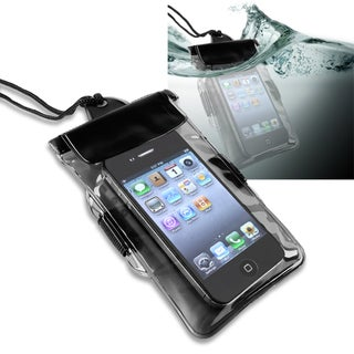 BasAcc Black Universal with Armband Waterproof Bag for Apple iPhone 4/ 4S/ 5/ 5S