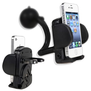 BasAcc Black Windshield Mounted Phone Holder for Apple iPhone 5