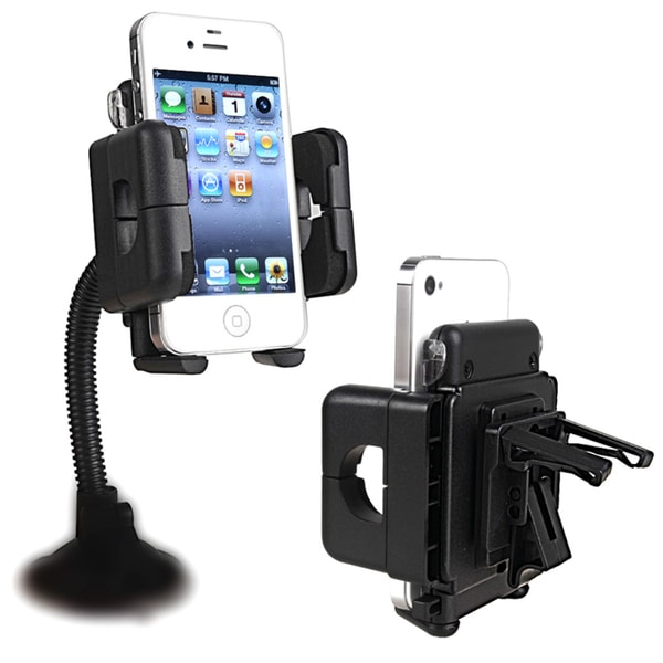 INSTEN Swivel Windhsield Mount Phone Holder for Apple iPhone 4S/ 5C/ 5/ 5S/ 6
