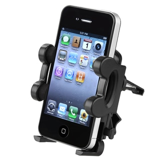 INSTEN Black Car Vent Phone Holder for Apple iPhone 5 for Apple iPhone 4S/ 5S/ 6