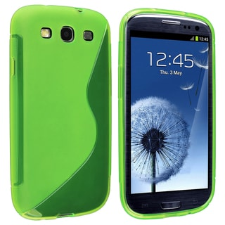 BasAcc Clear Green S Shape TPU Case for Samsung Galaxy S III/ S3